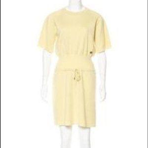 Louis Vuitton Yellow Terry Cloth Mini Dress M